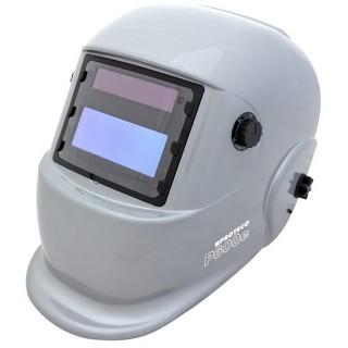 P600E Solar Automatik Schweißhelm Schweisshelm Silber