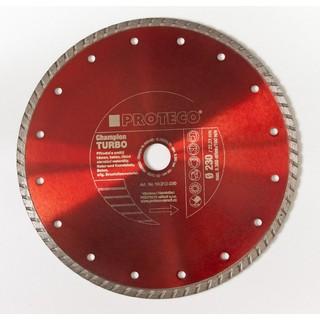 Diamant-Trennscheibe TURBO 230 mm geschlossener Schneidrand Trockenschnitt