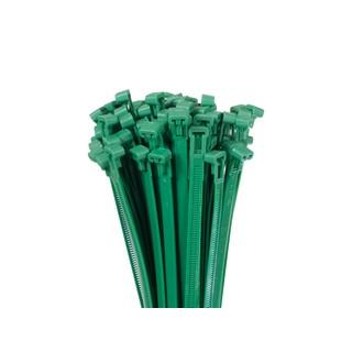 Profi Kabelbinder 200 300 400 lösbar wiederverwendbar grün