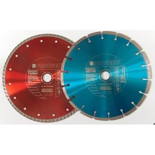 Satz Diamant Trennscheibe 230 mm Turbo und Segment Trockenschnitt