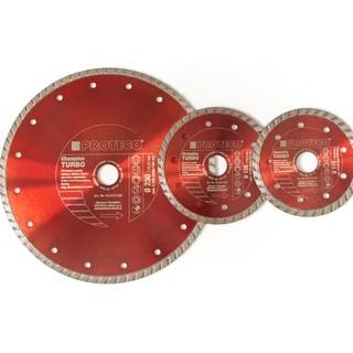 3 tlg. Satz Diamant Trennscheiben 115, 125, 230 mm Turbo mit geschlossenem Schneidrand Trockenschnitt