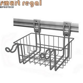 smartregal Systemkorb KLEIN, silbergrau, ca. 30 cm